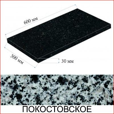Плита гранитная термообработанная (Покостовское МР, Украина)
