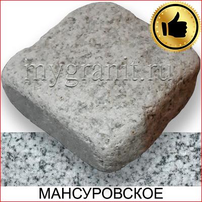 Брусчатка гранитная колото / галтованная (Мансуровское МР, РФ)
