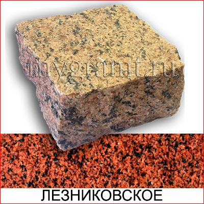 Брусчатка гранитная пилено / колотая термообработанная (Лезниковское МР, Украина)