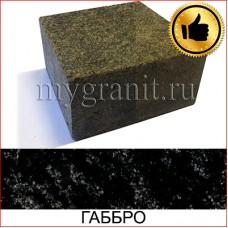 Брусчатка гранитная полнопил с ТО (Габбро, Украина)