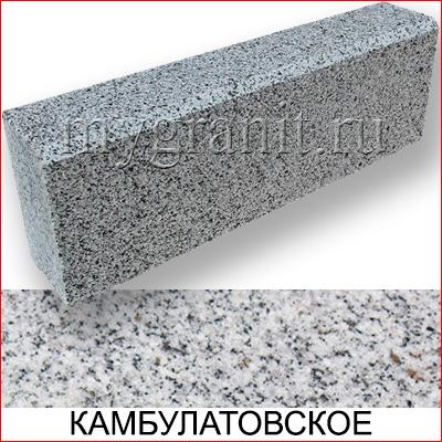 Бордюр гранитный ГП-1 (Камбулатовское МР, РФ)
