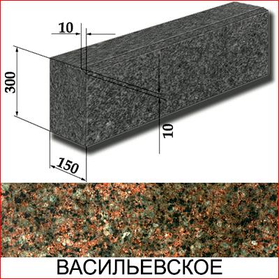 Бордюр гранитный ГП-1 (Васильевское МР, Украина)